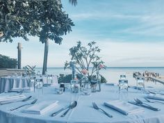 Wedding ceremony and dinner party at the beach by TamutamuTeoh