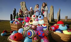 Knitted breasts made on the Isle of Lewis