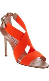 Vibrant Manolo Blahnik Sandals at ShoeSaleToday.com
