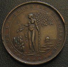 Medaille franc-maçonnerie 1817 Loge de Rouen