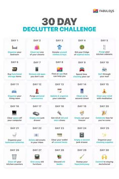 declutter challenge- sadly some of these single day activities would each. declutter challenge- sadly some of these single day activities would each take me 30 days to House Cleaning Tips, Spring Cleaning, Cleaning Hacks, Cleaning Challenge, Deep Cleaning Lists, Daily Cleaning, Diy Hacks, 30 Tag, Happy March