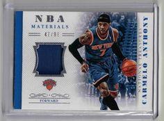 2013 National Treasures Basketball Carmelo Anthony Relic Card #47/99 NY Knicks #NewYorkKnicks