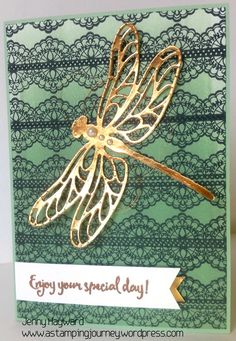 Mint Macaron_dragonfly with Stampin' Up! Dragonfly Dreams Bundle and Delicate Details.