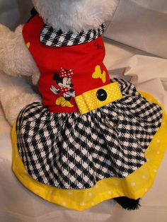 Minnie Mouse hounds tooth dress by dressmeupscottie on Etsy