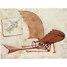 Global Gallery 'Flying Machine' by Leonardo Da Vinci Painting Print on Wrapped Canvas Renaissance Men, Italian Renaissance, Painting Frames, Painting Prints, Art Prints, Paintings, Mona Lisa, Michelangelo, Framed Canvas Prints