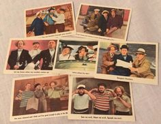 1959 Fleer The 3 Three Stooges Trading Cards Lot of 7 Larry Moe Curly