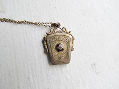 Antique Locket / Victorian Free Mason Locket by LUXXORVintage, $125.00