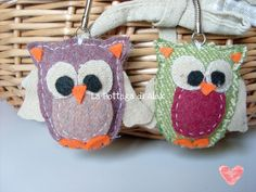 owl keychain - portachiavi gufettoso