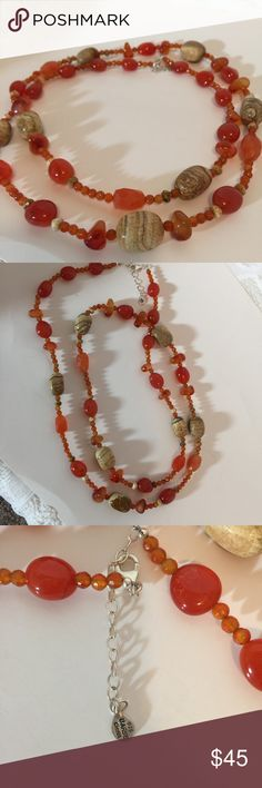 Barse Sterling Carnelian, Jasper, Agate Necklace Barse Multifacet Bead Carnelian, Agate, Coral, Jasper Necklace sterling Silver. Great Quality! Necklace is very nice & not costume jewelry.  Received as gift but never worn!   Barse Jewelry is designer sterling silver and bronze with a focus on stones, especially through custom cuts and placements. Every piece designed will bear an unusual detail that reveals the special touch that Barse fans love.  Barse Jewelry is designed locally in Dallas…