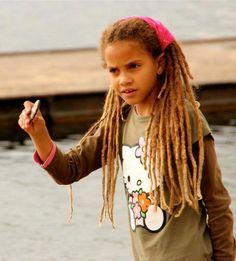 loc'd cutie  Young girl with long dreads  Dreadlocks <3
