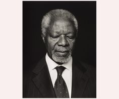 Anoush Abrar's portrait of Ghanaian diplomat Kofi Annan, commissioned by ZEIT Magazine. The portrait placed third in the Taylor Wessing Photographic Portrait Prize Photoshop For Photographers, Famous Photographers, Photoshop Tips, Photoshop Tutorial, Kofi Annan, African Royalty, National Portrait Gallery, Portrait Photography, White Photography