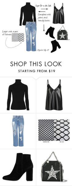 """""""Weekend Styling Idea"""" by quintan ❤ liked on Polyvore featuring Acne Studios, WithChic, Steve J & Yoni P, MANGO, STELLA McCARTNEY, weekend and jeans"""