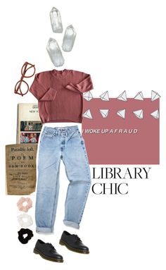 """Libary chic"" by meriastrid ❤ liked on Polyvore featuring Dr. Martens, Forever 21, polyvoreeditorial and librarychic"