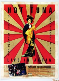 Hot Tuna Live in Japan 1997 New Album Promo Poster 18 x 24