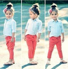 If only my daughter would wear jeans or anything with buttons