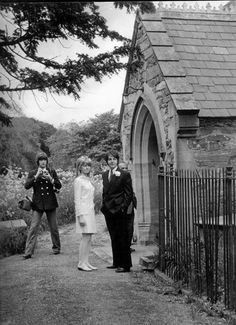 Paul and Jane Asher outside the Church