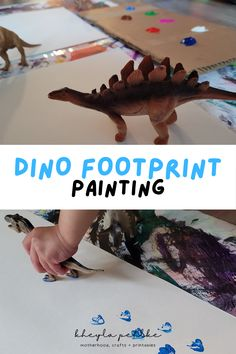 Are you looking for some easy activities for kids at home? This dinosaur craft is the perfect activity for toddlers or preschoolers! Not only can this be added to your list of fun kids activities but also low prep activities for kids! | dinosaur crafts | dinosaur activities preschool | arts and crafts for kids | painting ideas via @kheylapehlke Sensory Activities Toddlers, Dinosaur Activities, Dinosaur Crafts, Motor Skills Activities, Printable Activities For Kids, Outdoor Activities For Kids, Infant Activities, Family Activities, Preschool Arts And Crafts