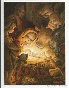 FELICITACION NAVIDAD *FERRANDIZ* - ORIGINAL 1968 (17 X 12 CM) (Postales - Navidad)