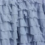Ice Blue 2 Inch Ruffle Fabric, all of this ruffle fabric is so easy to work with! Ruffle Fabric, Ruffle Skirt, Ruffle Blouse, Ruffles, Simple Style, My Style, Skirt Tutorial, Dress Tutorials, Fabric Shop