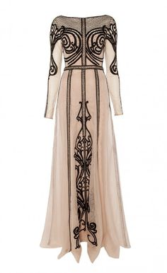 Long Sleeved Crivelli Dress - an incredible modern take on the House of Worth dress.