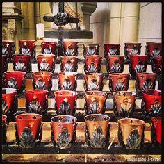 Nomadic Decorator | DIY Colored Mercury Glass Candle Holders | http://nomadicdecorator.com