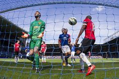 De Gea looks exasperated after seeing his side fall further behind, as he could not repeat...