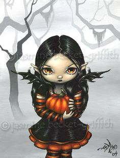 jasmine becket-griffith | Gothic Art : Pumpkin Pixie by Jasmine Becket-Griffith