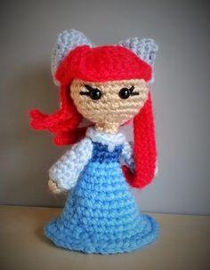 Ariel - Little Mermaid Human Form. Disney Amigurumi Crochet