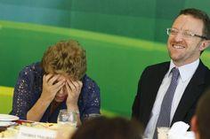O ex-porta voz e ex-ministro da SECOM de Dilma,Thomas Traumann, ao lado dapresidente