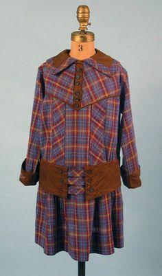 Girl's Plaid Dress, circa 1900