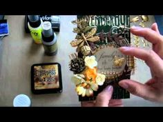Fall Tag using Lindy's Two Tone Embossing Powders