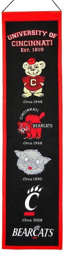 NCAA Cincinnati Bearcats Heritage Banner
