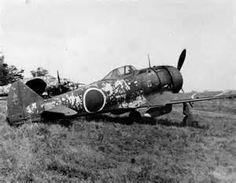 Nakajima Ki-44 Tojo lined up with other aircraft at an unidentified ...