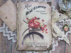 Bonjour Paris bonjour love diary journal notebook by BethStyleBook