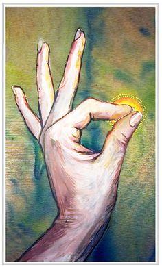 Jnana mudra- Mudra of Wisdom  Ego subjecting to the power of the universal spirit
