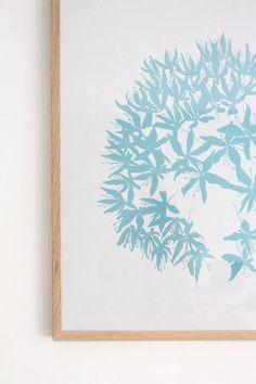 Ideas and inspiration | Framing handmade wallpaper as art... #accessorizeyourhome #withascandinaviantwist #behang #wallinspiration