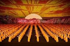 Human billboard mosaics from North Korean Mass Games by Werner Kranwetvogel Mass Games, Tulip Festival, Tattoo Magazines, Historical Images, Human Art, North Korea, Art Images, Photo Book, Backdrops