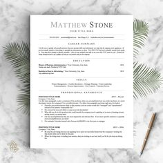 1 Page Resume Template Professional Resume Template For Word & Pages 1 2 And 3 Page