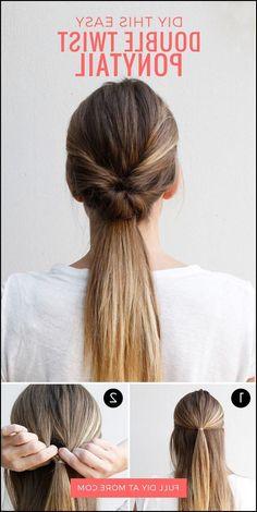 This Double-Twist Ponytail Is The Perfect Five-Minute Hairstyle ... #Frisuren2018 #HairStyles #bobfrisuren2018 #ModerneFrisuren #frisuren2018frauen #kurzhaarfrisuren2018 #frisurenmänner2018 #frisuren2018frauen #Manner Frisuren2018 #TrendMode Sehr lose plissierte und unordentliche Seitenzopffrisuren werden nun zum formellen Trend. Zopffrisur des schicken Blickes ist z. Hd. juvenil ager, zum...