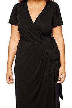 kiyonna women's plus size whimsy wrap dress 4x green with https