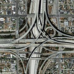 Highway intersection, Los Angeles, USA