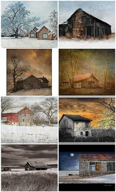 Old Barn & House Collage..(4)