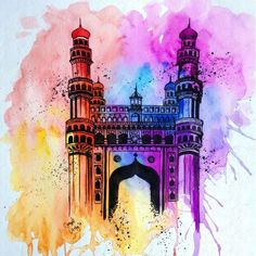 The City based on a love story is part of drawings - Do you know the history of your city Do you ! Well after living in the city of Hyderabad for over 6 years I thought I knew my city well; Of course, it was quite difficult at the start since I live… Mandala Art Lesson, Mandala Artwork, Mandala Drawing, Watercolor Mandala, Watercolour, Art Drawings Sketches Simple, Pencil Art Drawings, Drawing Ideas, Art And Illustration