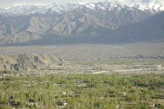 Leh town from shanti stupa