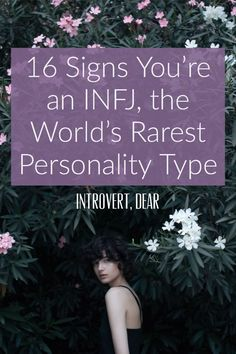 Here are 16 signs that you're an INFJ personality, the rarest Myers-Briggs type. The INFJ is considered to be the rarest Myers-Briggs personality type, making up less than 2 percent of the world's entire population. Introvert Personality, Rarest Personality Type, Myers Briggs Personality Types, Myers Briggs Infj, Personality Psychology, Personality Tests, Advocate Personality Type, Infj Traits, Infj Infp