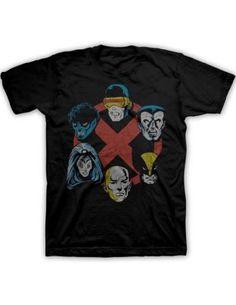 Marvel X-Men Group Men's Black T-shirt $13.99 #bestseller