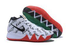 8fa6e364fd Mens Nike Kyrie 4 BHM Equality White Green Red Basketball Shoes