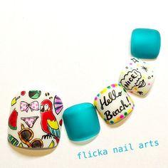 ネイル 画像 flicka nail arts 1004731 フット