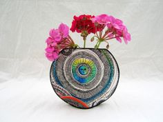 Fabric vases on pinterest fiber art fishbowl and flower for Jo ann fabrics and crafts vancouver wa