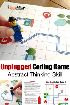 Printable coding game for beginner kids to learn critical thinking skills. Unplugged STEM activity for boys and girls learn to think from different perspectives with abstract data. No computer needed computer coding lesson for hour of code - Education and Kids Learning Activities, Stem Activities, Teaching Kids, Computer Activities For Kids, Critical Thinking Activities, Critical Thinking Skills, Coding Games For Beginners, Learn Computer Coding, Computer Science